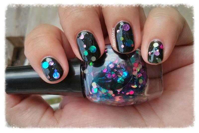 bubbly mani nail art by Moni'sMani