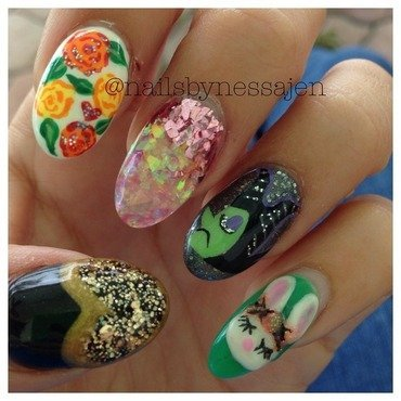 ClusterFuck 2 nail art by Vanessa Jenelle