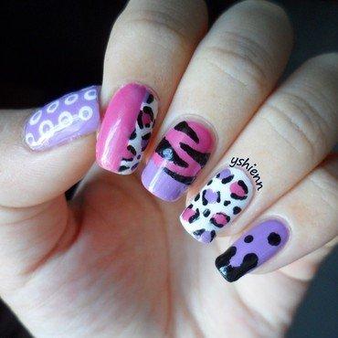 Mix & match nail art by Shien