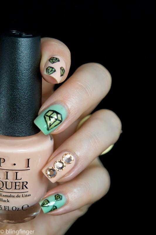 Diamond Nails nail art by  Petra  - Blingfinger