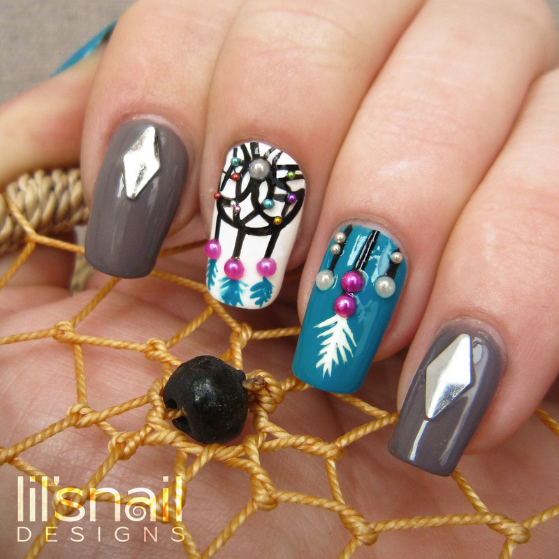 Dream Catcher Nails nail art by Lily-Jane Verezen - Dream Catcher Nails Nail Art By Lily-Jane Verezen - Nailpolis