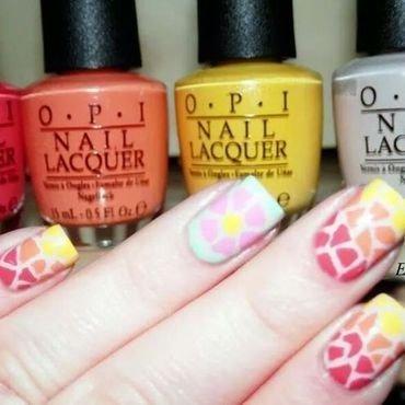 opi Brazil mosaic nail art  nail art by Easynailartideas