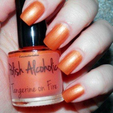 Polish Alcoholic Tangerine on Fire Swatch by Easynailartideas