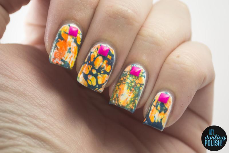 Distressed Neons nail art by Marisa  Cavanaugh