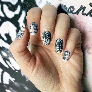 Chandelier canvas art nail art by simplynailogical