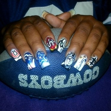 who you with? nail art by boo_ babi
