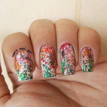 Splatter ! nail art by Uma mathur
