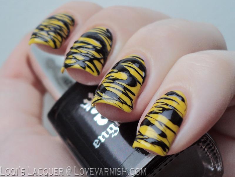 Yellow sugar spun nails nail art by Loqi