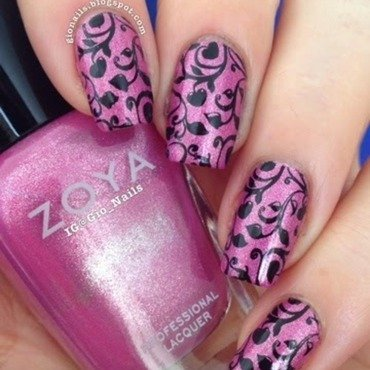 Love Leaves nail art by Giovanna - GioNails