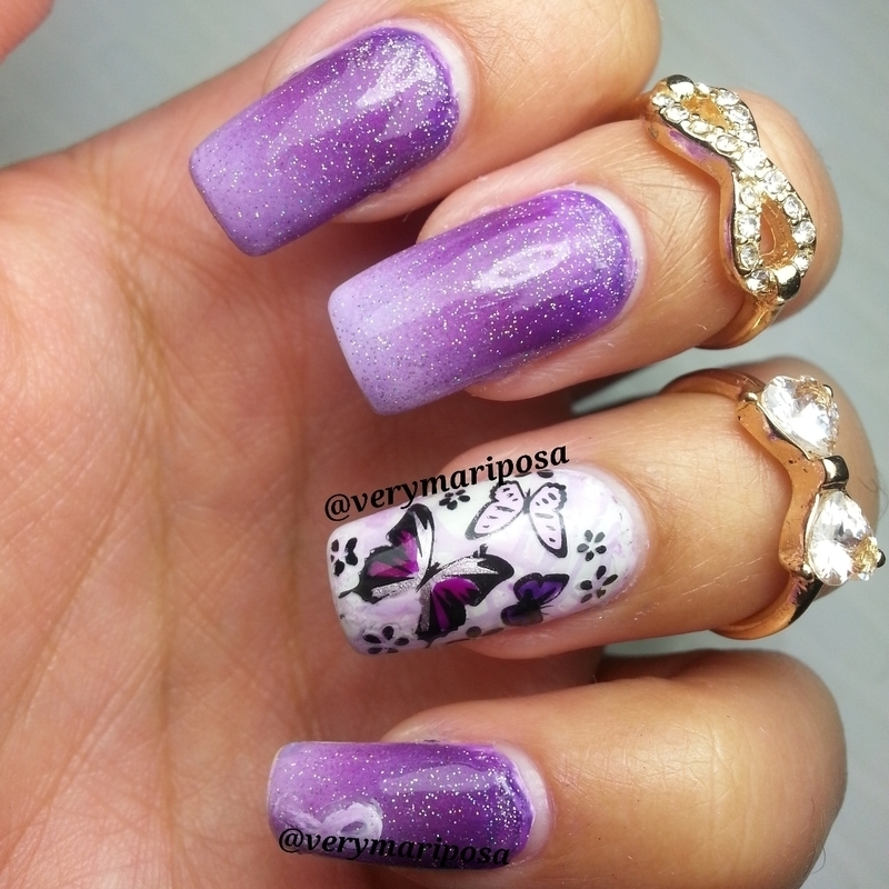 Lupus Awareness nail art by Verónica - Nailpolis: Museum of Nail Art