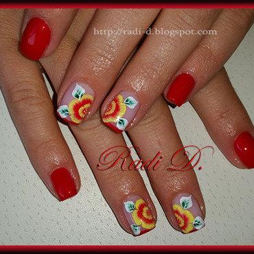 In Red nail art by Radi Dimitrova