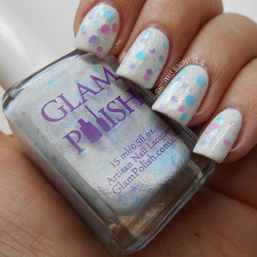 Models Own White Light, Seche Seche Vite, and Glam Polish Cloud Atlas Swatch by Lisa Yabsley