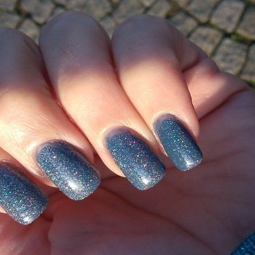 Butter London Stardust Overcoat and Chanel Blue Boy Swatch by Laurence