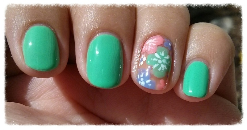 spring free hand flowers nail art by Moni'sMani