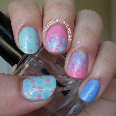 Polka dot skittle nail art thumb370f