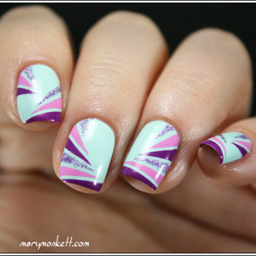 Breakfast In Bed nail art by Mary Monkett