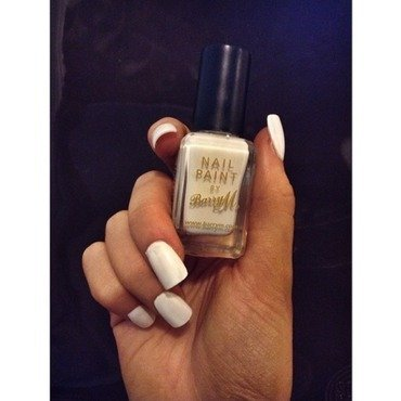 Barry M - White Monochrome Chic nail art by ohsochicandfabulous