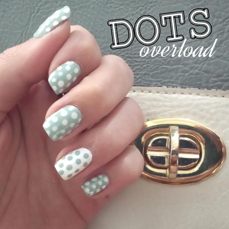 Dots overload nail art by Mango Nailz