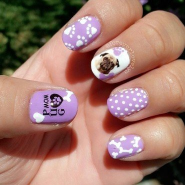 Pug Life nail art by Connie P.