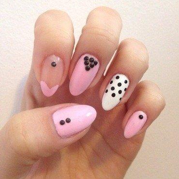 ...Pink nail art by Elaina