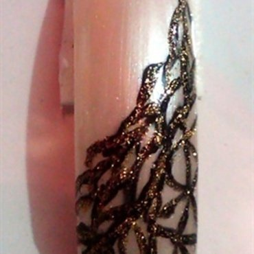 Sexy Lacy nail art by Beautiful You With Suzette