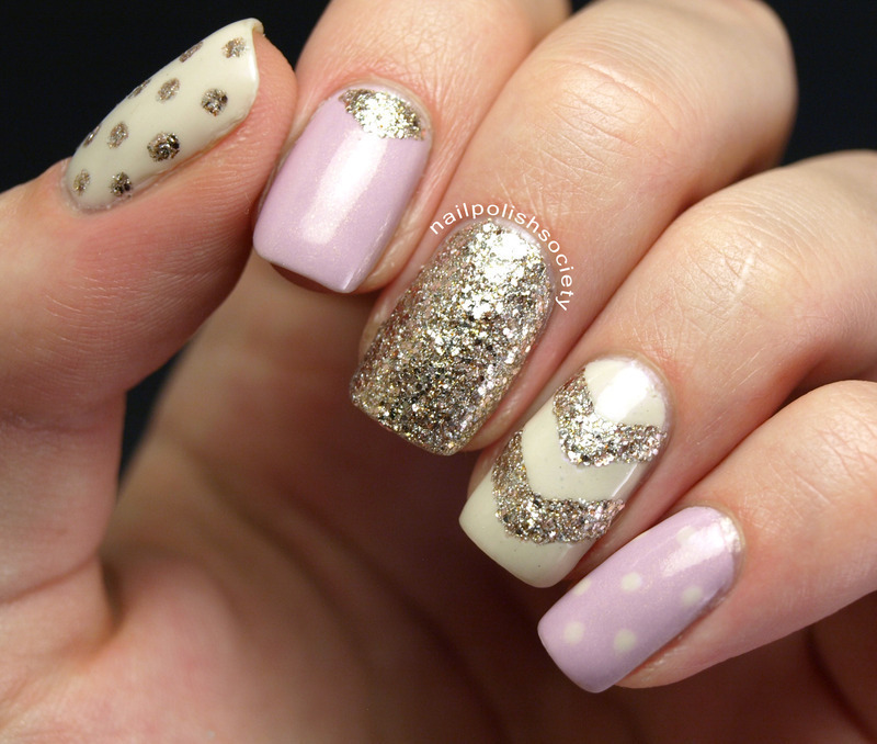 Glitzy Pinterest Nails nail art by Emiline Harris