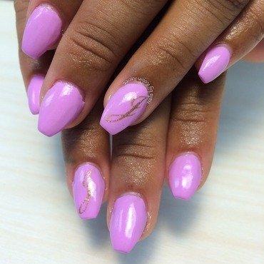 Graduation nails in Lilac nail art by Robin Renee