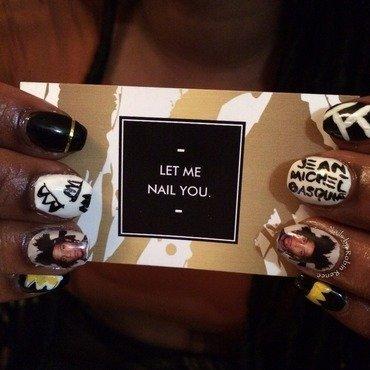 Jean-Michel Basquiat realness nail art by Robin Renee