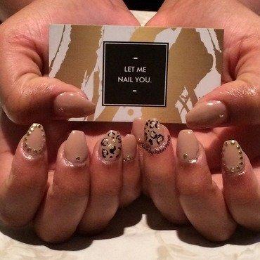 Elegant Leopard nail art by Robin Renee