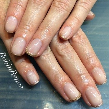 Royal French Tip nail art by Robin Renee