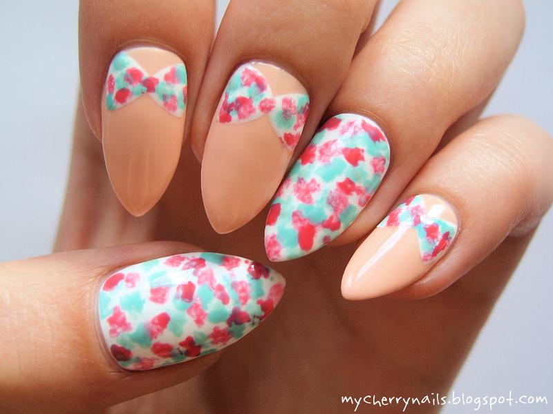 Bows nail art by Pauline