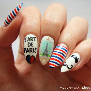 L'art de Paris nail art by Pauline