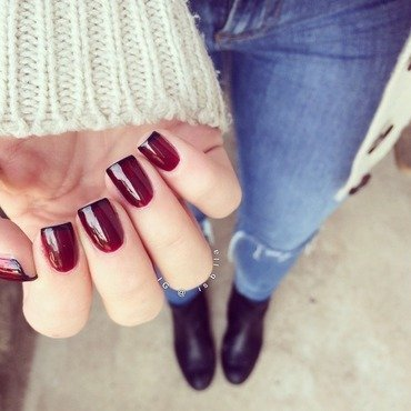 French Tips nail art by Isabella