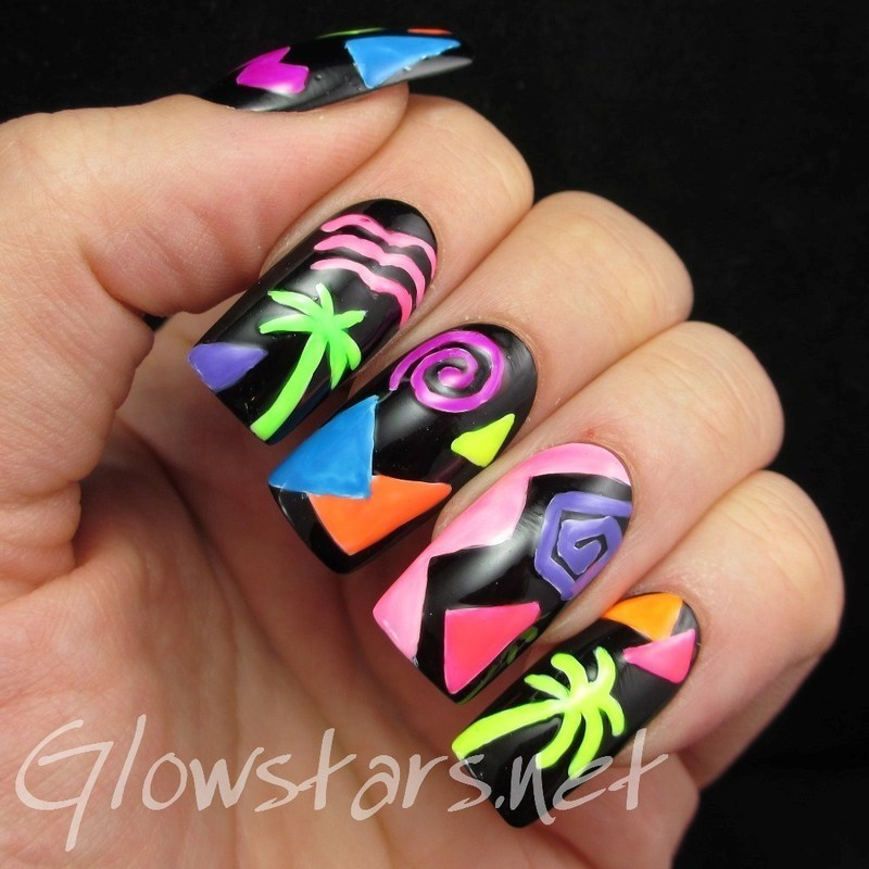 The Digit-al Dozen Does Decades: 1980s nail art by Vic 'Glowstars' Pires