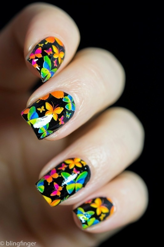 Butterfly Nail Wraps nail art by  Petra  - Blingfinger