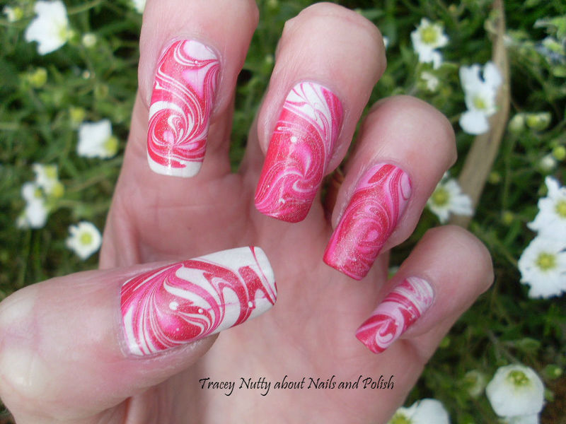 Sweet Swirl nail art by Tracey - Bite no more