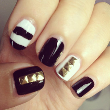 Studded Nails nail art by Luxi Zhang