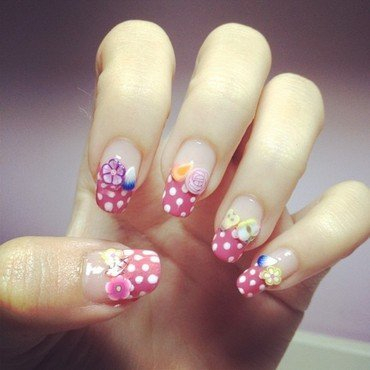 Fruity polka dots nail art by Luxi Zhang
