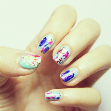 Foil Nails nail art by Luxi Zhang