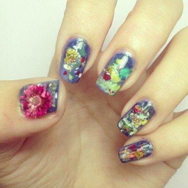 Claude Monet Water Lilies Nail Art nail art by Luxi Zhang