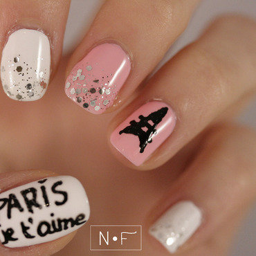 Paris, je t'aime! nail art by NerdyFleurty
