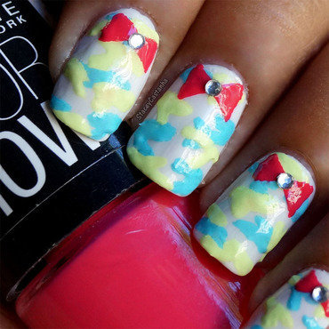 Girly Camo Print nail art by Stacey  Castanha