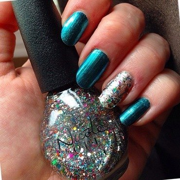 Nicole OPI Don't say it sprout it and Nicole OPI Sea-ing is believing Swatch by Kathleen