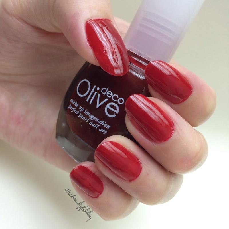 Olive Deco Red (212) Swatch by onebeautyfulday
