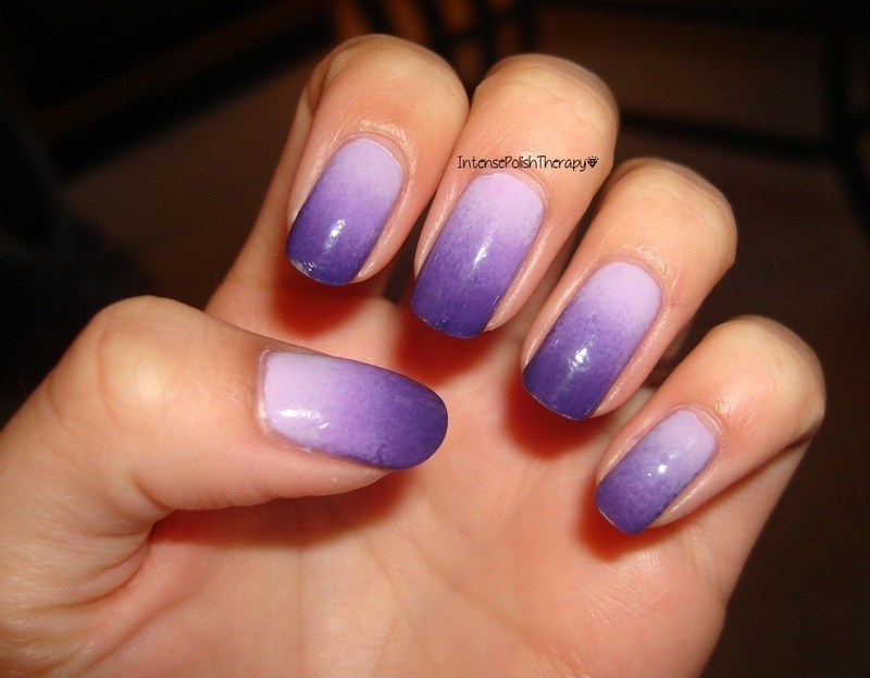 purple gradient nail art by IntensePolishTherapy Anita