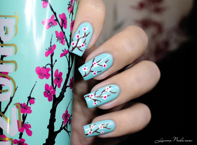 Arizona Cherry Blossom Nail Art By Lizana Nails Nailpolis