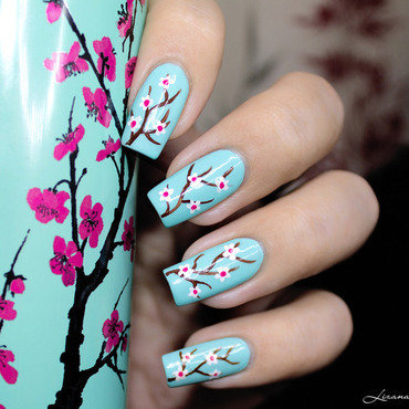 Arizona / Cherry Blossom nail art by Lizana Nails