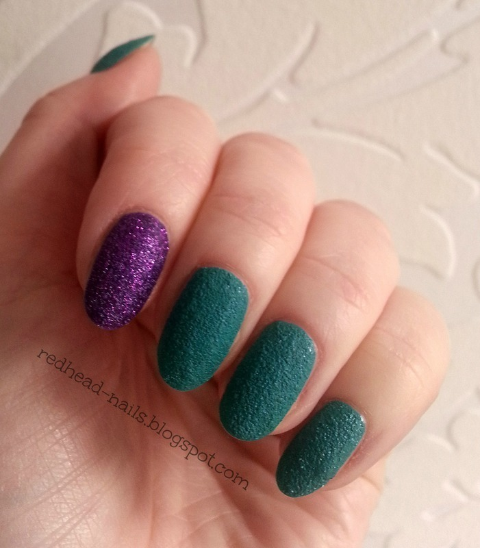 Zoya Carter and Sally Hansen Spare-A-Mint Swatch by Redhead Nails
