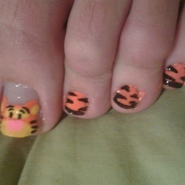 Tigger nail art by Brittany Wanner