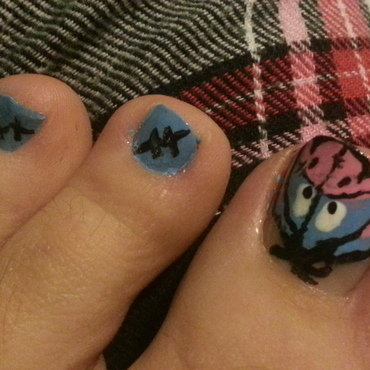 Eeyore nail art by Brittany Wanner
